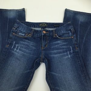 Seven 7 Distressed Boot Cut Jeans